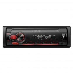 RADIO PIONEER PARA COCHE USB COMPATIBLE CON DISPOSITIVOS ANDROID PIONEER MVH-S120UB (ROJO)