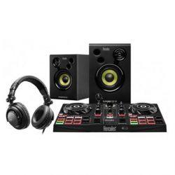 CONSOLA DJ SISTEMA DE VINILO DIGITAL KIT CONTROLADOR NEGRO HERCULES 4780900