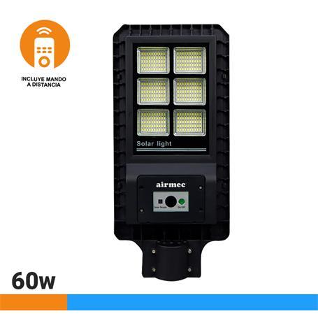 FAROLA LED SOLAR 60W 900 LUMENS SERIE STREET AIRMEC AM131114