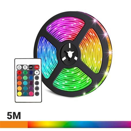 TIRA LED 5V 5 METROS COLOR RGB AIRMEC AM131060